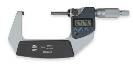 Digital Micrometer, 2-3In, 0.00005, Ratchet