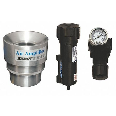 Air Amplifier Kit, 2 In Inlet, 21.5 CFM