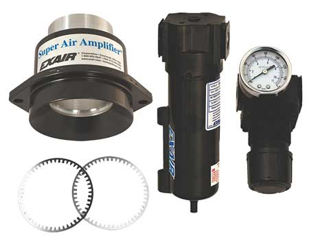 Air Amplifier Kit, 1.22 In Inlet, 8.1 CFM