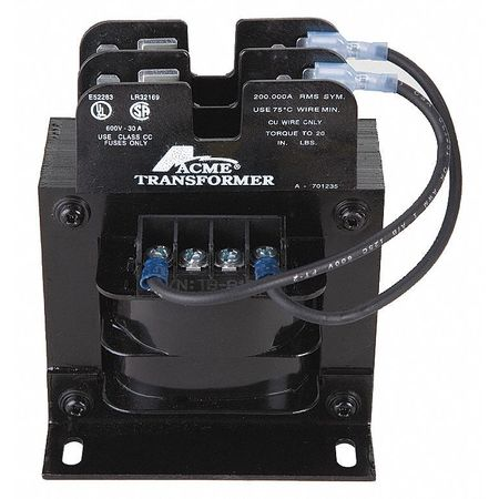 Control Transformer, 250VA, 3.88 In. H