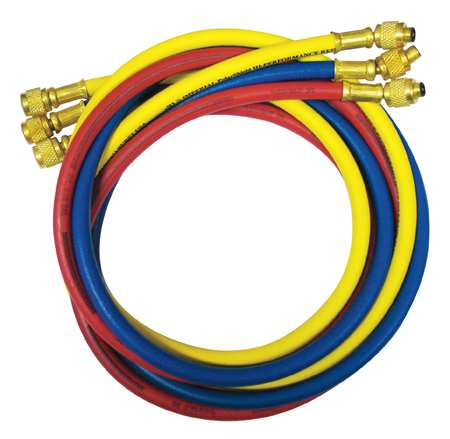 Manifold Hose Set, 60 In, Red, Yellow, Blue
