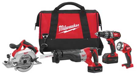 M18 Cordless Combination Kit,  3.0A/hr.,  18V