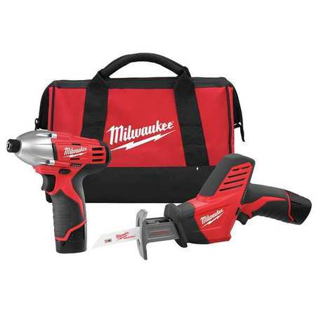 M12 Cordless Combination Kit,  12V,  1.5A/hr.