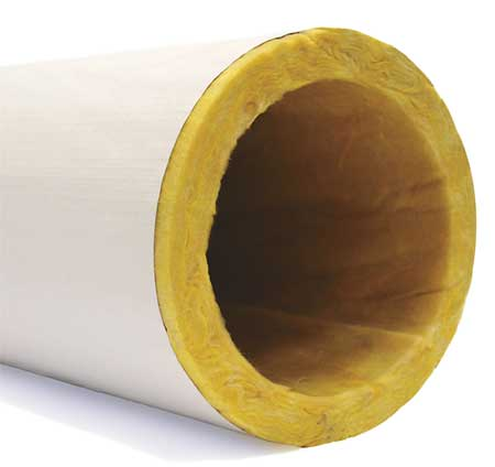 "5-41/64"" x 3 ft. Fiberglass Pipe Insulation 1-1/2"" Wall"