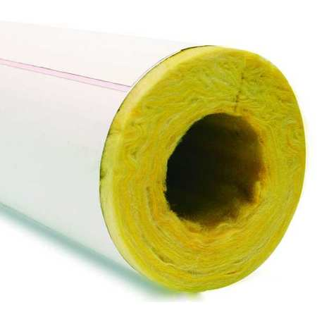 "3-17/32"" x 3 ft. Fiberglass Pipe Insulation 1"" Wall"