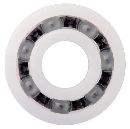 Polymer Ball Bearing, 8 mm, Stainless