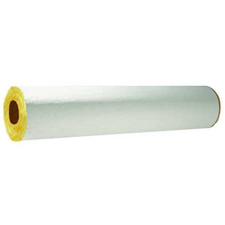 "1-25/64"" x 3 ft. Fiberglass Pipe Insulation 1-1/2"" Wall"