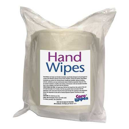 "Hand Cleaning Wipes,  6W x 8""L,  700 Wipes"
