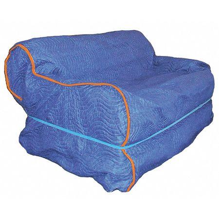 Furniture Cover, 63 In. L x 37 In. W, Blue