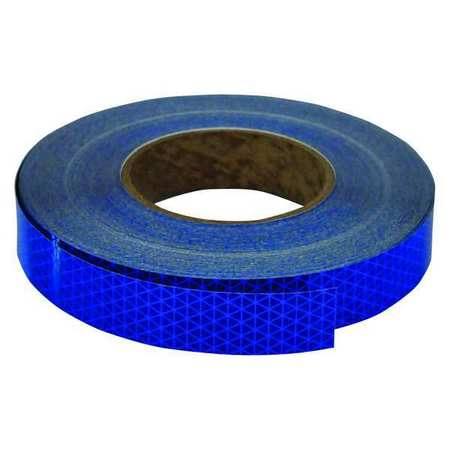 Reflective Tape, W 1 In,  L 50 Yd, Blue