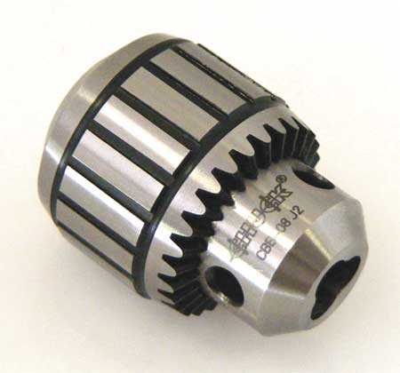 "Keyed Drill Chuck 3/8"" Cap.,  2JT Mount Size,  Steel"