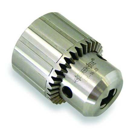 Drill Chuck, Keyed, Steel, 0.250 In, 3/8-24