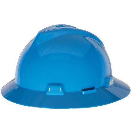 V-Gard Hard Hat, FullBrim, Blue