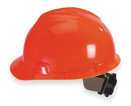 V-Gard Hard Hat, Front Brim, Fastrac, Hi-Vis Orng