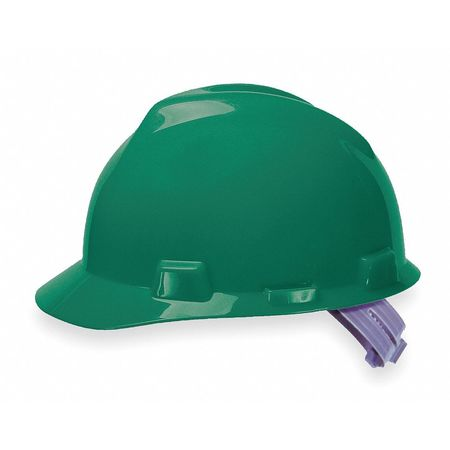 Hard Hat, FrtBrim, Slotted, PinLk, Green