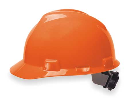 V-Gard Hard Hat, Front Brim, Fastrac, Orange