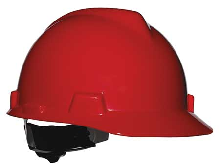 V-Gard Hard Hat, Front Brim, Fastrac, Red