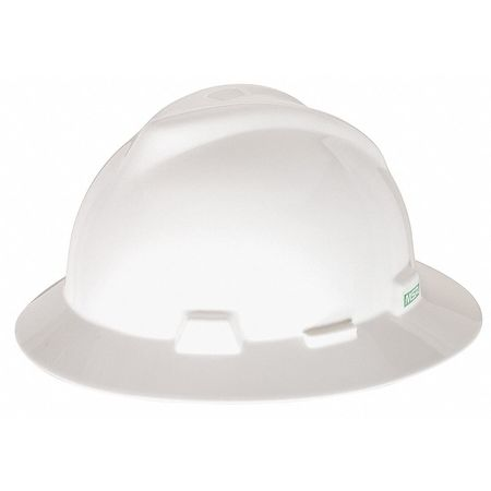 V-Gard Hard Hat, FullBrim, White