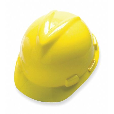 Hard Hat, FrtBrim, Slotted, PinLk, Yellow