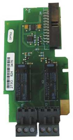 Standard I/O Card, 2 Relay Output (NC/NO)