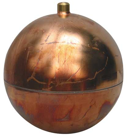 Float Ball, Round, Copper, 4-1/2 In