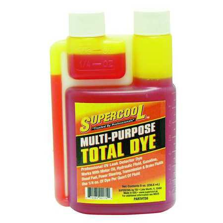 UV Fluid Leak Detection Dye,  8 Oz