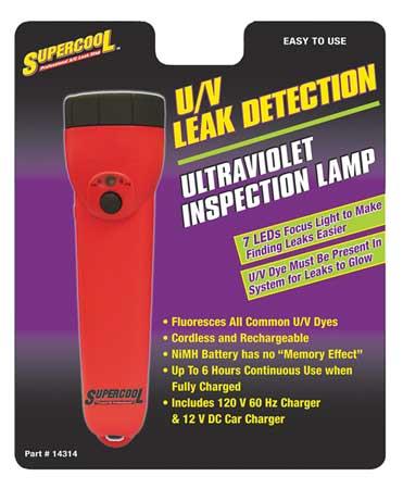 U/V Dye Detector Lamp, 7 LED