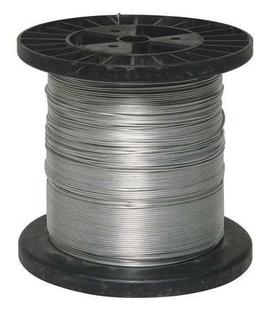 Electric Fence Wire, 17 Ga, 1320 Ft, Steel