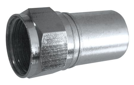 Coaxial Connector, F-Type, RG6 Plenum, PK50