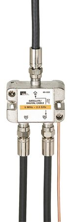 Cable Splitter, 2-Way, F-Type, 2.3 GHz