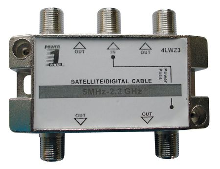 Cable Splitter, 4-Way, F-Type, 2.3 GHz