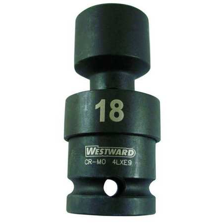 Flex Impact Socket, 1/2In Dr, 18mm, 6pts