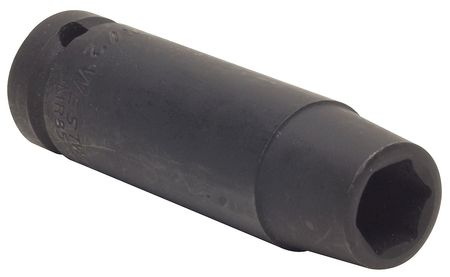 Impact Socket, 1/2In Dr, 12mm, 6pts