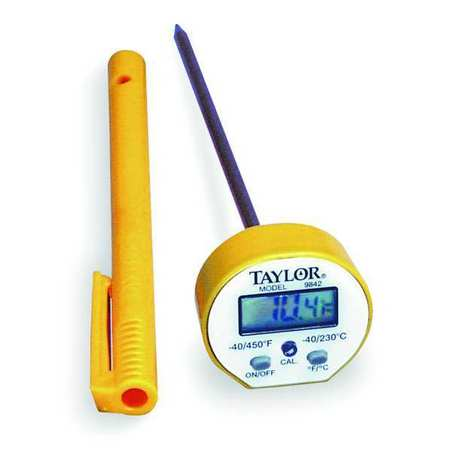 Digital Pocket Thermometer, LCD, 5 In L