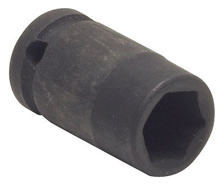 Impact Socket, 1/4In Dr, 3/8In, 6pts