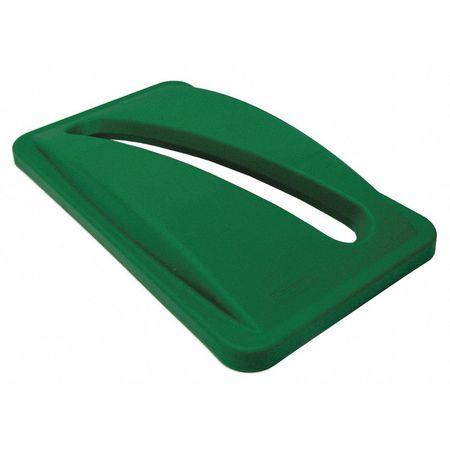 Paper Slot Recycling Top, Plastic, Green