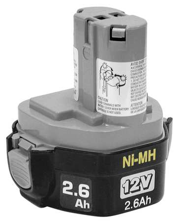 Battery Pack, 12V, 2.6Ah, NiMH