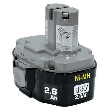 Battery Pack, 18V, 2.6Ah, NiMH