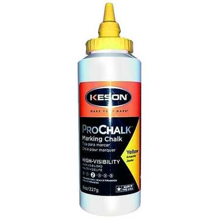 Marking Chalk Refill, Yellow, 8 Oz