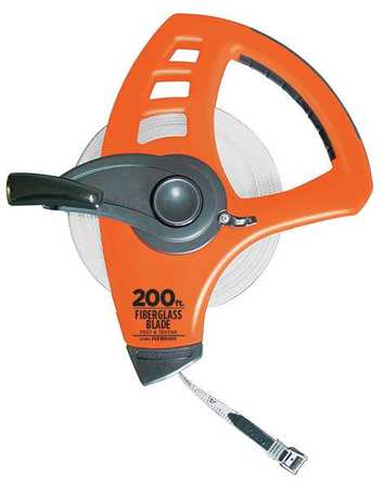 Tape Measure, 1/2 Inx200 ft, Orange/Black