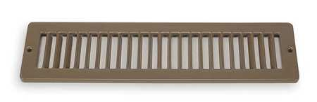 Floor Register, 2x12, Brown