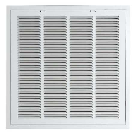 "Filtered Return Air Grille, 24x24"", White"