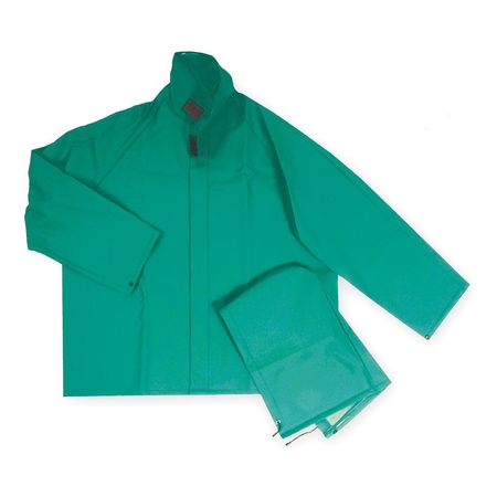 FR Rain Jacket/Detachable Hood, Green, 2XL