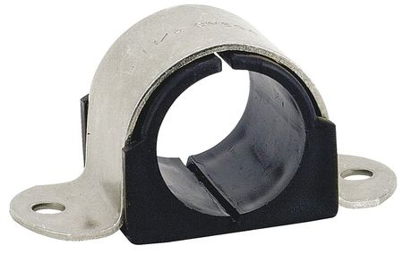 2 Hole Cushion Clamp, Pipe Size 4 In