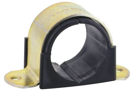 2 Hole Cushion Clamp, Pipe Size 3 In