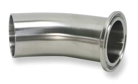 "1-1/2"" Clamp x Weld SS 45 Degree Elbow"