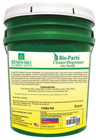 Parts Cleaner/Degreaser, 5 gal Pail