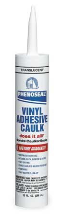 Translucent Phenoseal Vinyl Adhesive Caulk,  10 oz. Cartridge