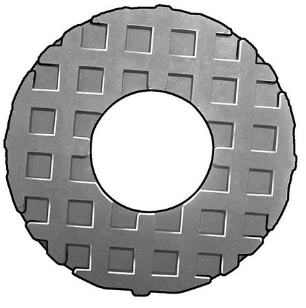 Washer, Waffle, Neoprene, Fit 5/8 In, 0.5 Th