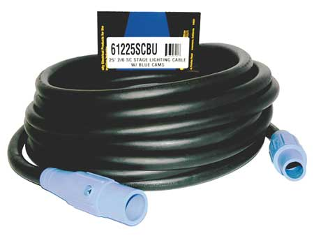 Cam Lock Extension Cord, 200A, CL20FBU, 1P